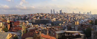 Panorama of Istanbul Taksim.Turkey Royalty Free Stock Photo