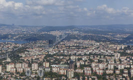 Panorama of Istanbul tower Istanbul Sapphire.The height of 286 m Royalty Free Stock Photos
