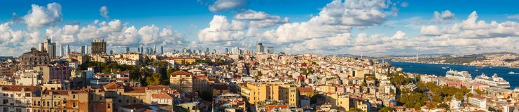 Panorama in Istanbul, Turkey Royalty Free Stock Images