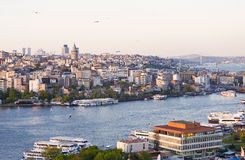 Panorama of Istanbul, view from above Stock Images