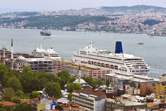 Panorama of Istanbul, view from above Royalty Free Stock Photos
