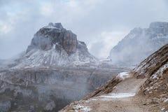 Panorama Italia della montagna delle dolomia Immagine Stock Libera da Diritti