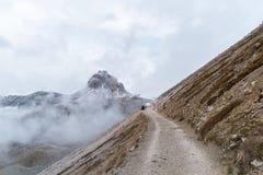 Panorama Italia della montagna delle dolomia Fotografie Stock