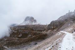 Panorama Italia della montagna delle dolomia Fotografie Stock Libere da Diritti