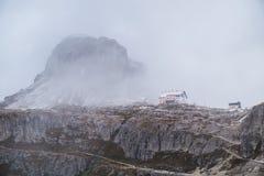 Panorama Italia della montagna delle dolomia Fotografia Stock
