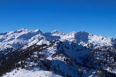 Panorama of Italian Dolomites Stock Photo