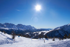 Panorama of Italian Dolomites Stock Images