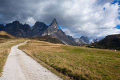 Panorama italiano delle alpi Fotografia Stock