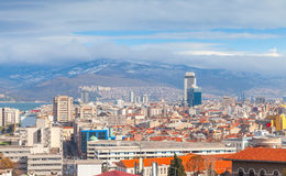 Panorama of Izmir city, Turkey. Modern buildings Royalty Free Stock Photos