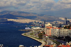 Panorama of Izmir (Turkey) Royalty Free Stock Photography