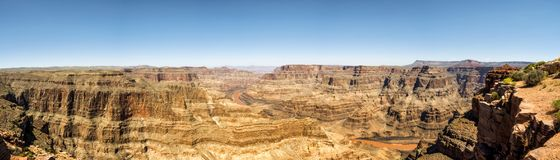 Panorama : Jante occidentale d'Eagle Point - de Grand Canyon, Arizona, AZ Images stock