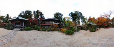 Panorama japonais de temple Image libre de droits