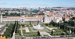 Panorama of the Jeronimos Stock Photo
