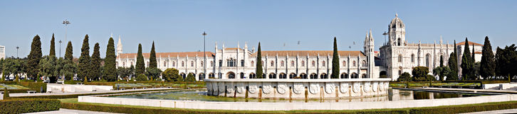 Panorama of Jeronimos Monastery, Portugal Royalty Free Stock Photo