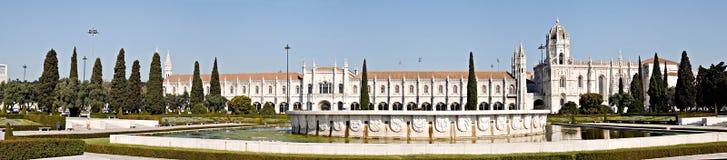 Panorama of Jeronimos Monastery, Portugal royalty free stock photo
