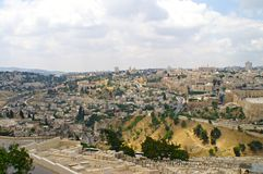 Panorama of Jerusalem 1 Stock Image
