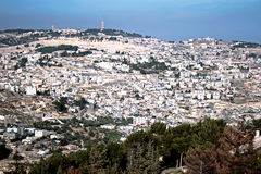 Panorama of Jerusalem Stock Images