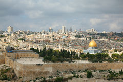The panorama of Jerusalem Stock Photography