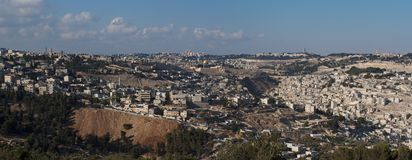 Panorama of Jerusalem in the evening Stock Image