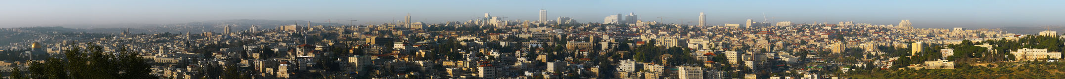 Panorama Jerusalem Israel Royalty Free Stock Images