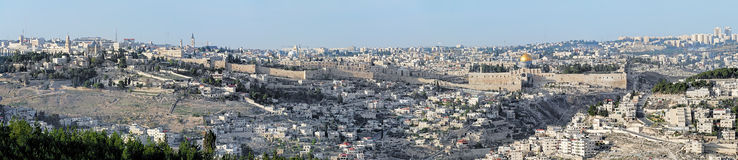 Panorama of Jerusalem, Israel Stock Images