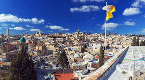 Panorama - Roofs of Old City, Jerusalem Royalty Free Stock Photos