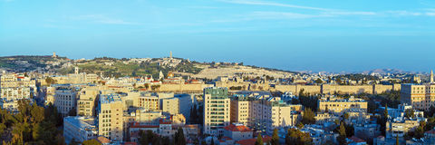 Panorama - Aerial View of Jerusalem Royalty Free Stock Photos
