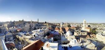 Panorama of Jerusalem stock photography
