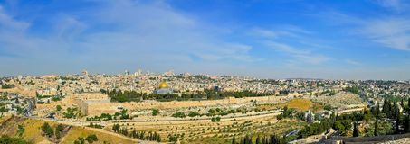 Panorama Of Jerusalem Stock Photos