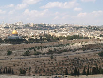 Panorama of Jerusalem, view of the Temple mountain. Israel Royalty Free Stock Photo