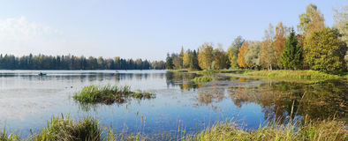 panorama jesienią zdjęcie royalty free