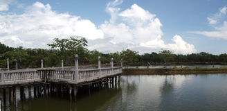 Panorama - Jetty & Cloud Stock Images
