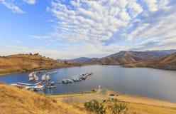 Panorama Jeziorny Kaweah w Kalifornia, usa Obraz Royalty Free