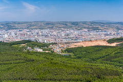 Panorama of Jilin,  China Royalty Free Stock Photo