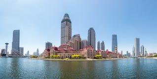 Panorama jinwan da plaza de Tianjin imagem de stock royalty free