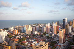 Panorama of Joao Pessoa in Brasil. Panorama of Joao Pessoa, city close to Recife and Natal, host cities of FIFA World Cup 2014 Stock Photos