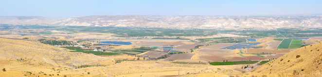 Panorama of the Jordan Valley Royalty Free Stock Image