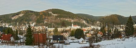 Panorama - Josefuv Dul German: Tschechische Republik Josefsthal stockfoto