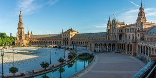 Plaza de Espana in Seville, Spain stock photography