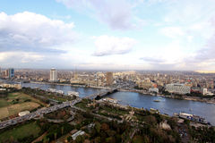 Panorama Kaïro Royalty-vrije Stock Afbeelding