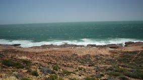 Panorama Kalbarri korala wybrzeże zdjęcie wideo