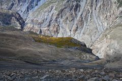 Panorama of Kali Gandaki valley, Nepal Royalty Free Stock Photos