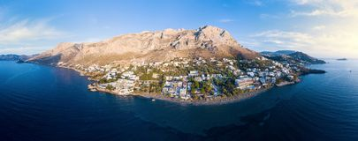 Panorama of Kalymnos island, Greece royalty free stock photos