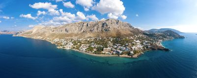 Panorama of Kalymnos island, Greece stock photography
