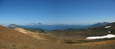 Panorama Kamchatka krajobraz (Rosja) Obrazy Royalty Free