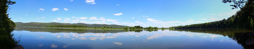 Panorama of the Kan river Royalty Free Stock Image