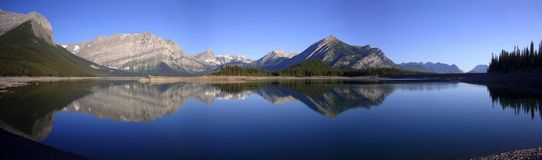 Panorama - Kananaskis Upper Lake 2 Stock Image