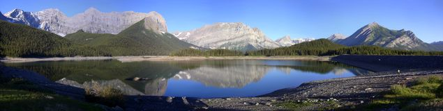 Panorama - Kananaskis Upper Lake Royalty Free Stock Image