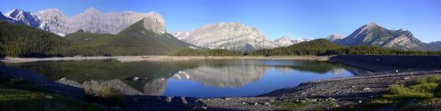 Panorama - Kananaskis Upper Lake royalty free stock image