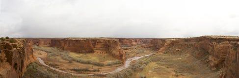Panorama Kanjon de Chelly Arkivfoton